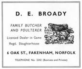 D. E. Broady, Oak Street, Fakenham