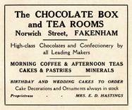 The Chocolate Box Tea Rooms, Norwich Street Fakenham 1937