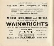 Wainwright's Music Depot. 1921