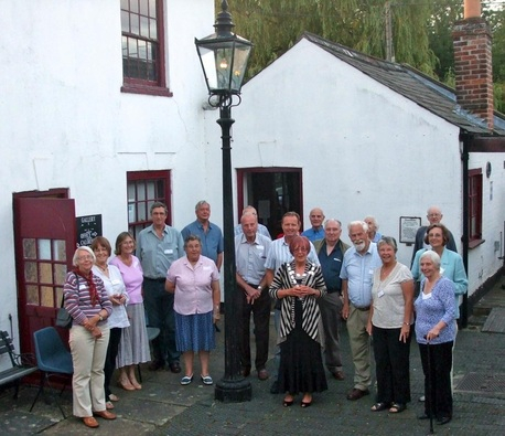 Fakenham Heritage Group members assembled at the town's Museum of Gas and Local History.