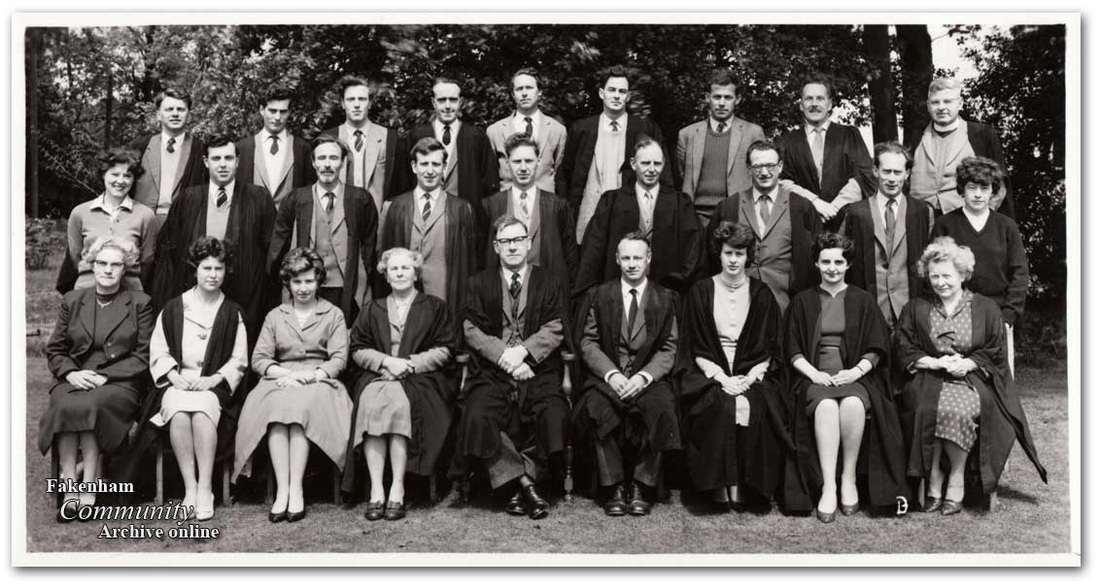 Staff Photo, Fakenham Grammar School, 1962