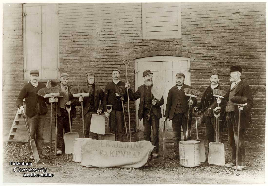 Maltsters outside The Maltings, Norwich Road, Fakenham in 1886