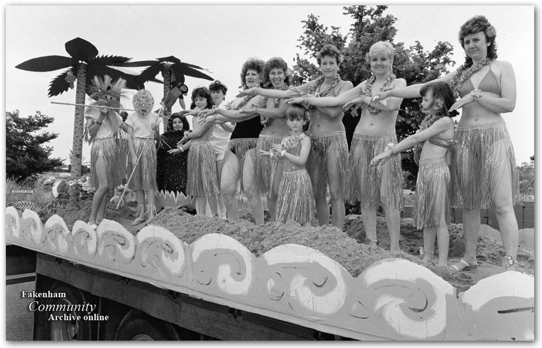 Fakenham Carnival and Fun-day in 1988
