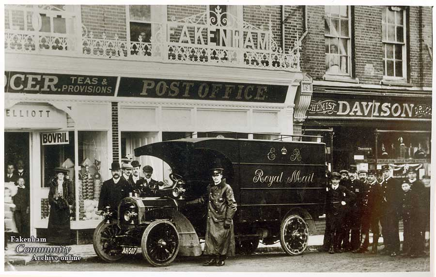 The Post Office, Fakenham Market Place 1906